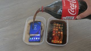 Download iPhone XS Max vs Samsung Galaxy S9 Plus Coca Cola Freeze Test 24 Hours! Video