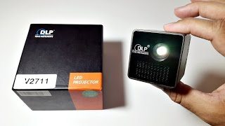 Download Awesome Ultra Mini DLP Projector - 1080p HD Movies - 1000mAh Battery Video