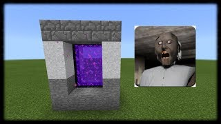 Download How to Make Portal to GRANNY HOUSE Dimension in Minecraft PE Video