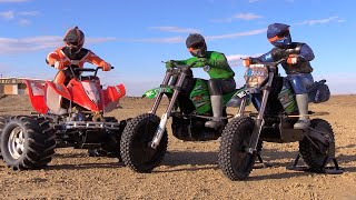 Download RC CWR Dirt racing with the Cx3 X-Rider and E-Maxx quad Video