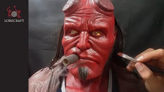 Download Hellboy Sculpture Timelapse - hand sculpted, lifesize bust Video