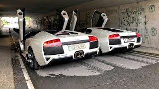Download 2x Lamborghini Murcielago LP640 V12 with Straight Pipes Fi Exhaust Video