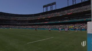 Download Highlights: Men's first session on day one at Rugby World Cup Sevens Video