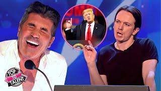Download Impersonator DONALD TRUMP Make Judges Can't Stop Laugh | Britain's Got Talent Video