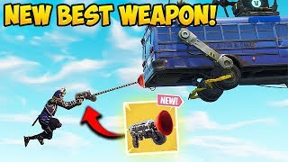 Download *NEW* GRAPPLER GUN BEST PLAYS! - Fortnite Funny Fails and WTF Moments! #313 Video