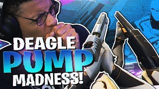 Download THIS COMBO IS RIDICULOUS! DEAGLE + PUMP MADNESS (Fortnite BR Full Match) Video