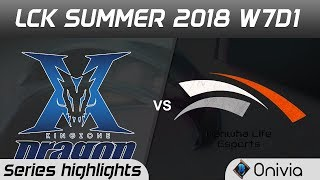 Download KZ vs HLE Series Highlights LCK Summer 2018 W7D1 Kingzone DragonX vs Hanwha Life Esports by Onivia Video