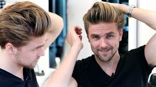 Download Men's medium hair lenght with high volume blow out | GIVEAWAY | Men's hairstyling inspiration 2015 Video
