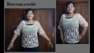 Download blusa en crochet crema parte 2 Video