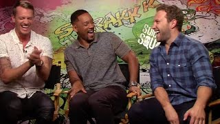 Download Suicide Squad: Joel Kinnaman, Will Smith and Jai Courtney crack up during interview Video