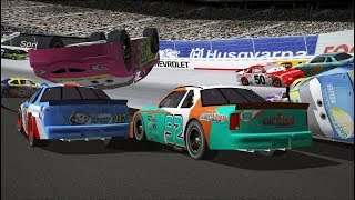 Download Can I Recreate The Dinoco 400 Cars Big One? ″Dinoco's All Mine!″ (Part 2) | NR2003 LIVE STREAM EP269 Video