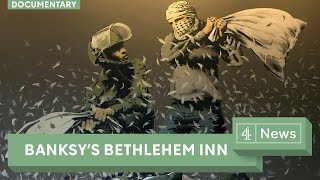 Download Banksy documentary: Welcome to the Banksy art hotel in Bethlehem Video