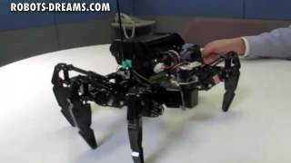 Download Hexapod Robot - Terrain Adaption, Avoid obstacles Video
