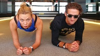 Download Beating Casey Neistat in a Handstand Challenge | Karlie Kloss Video