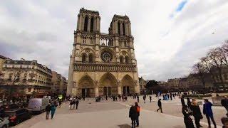 Download 360 VR Tour | Paris | Notre-Dame de Paris | Cathedral | Outside and Inside | No comments tour Video