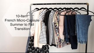 Download 10-Item French Micro-Capsule Wardrobe | Summer to Fall/Autumn Transition Video