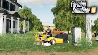 Download FS19- MOWING OVERGROWN LAWN WITH NEW ALLIS-CHALMERS GARDEN TRACTOR! (BEST GARDEN TRACTOR YET) Video
