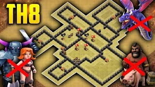 Download DISEÑO DE ÉLITE ANTI 3 ESTRELLAS TH8 | Anti Todo + Replays | Best th8 War Base 2018 | Zoloko Video