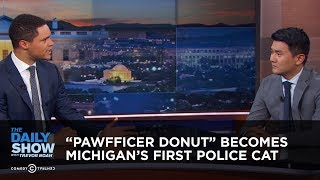 Download ″Pawfficer Donut″ Becomes Michigan's First Police Cat | The Daily Show Video
