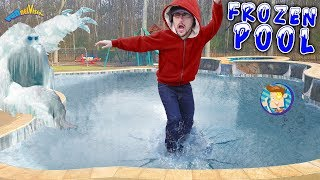 Download Our Frozen Pool is an ICE MONSTER! FUNnel V Vlog Video
