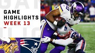 Download Vikings vs. Patriots Week 13 Highlights   NFL 2018 Video