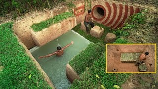 Download Building Beautiful Secret Underground House Villa And Swimming Pool Video