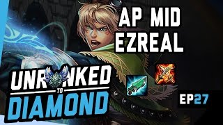Download AP EZREAL HARD CARRY - Unranked to Diamond Ep 27 (League of Legends) Video