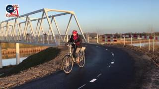 Download New Bicycle Bridge Near Berlicum (Netherlands) Video