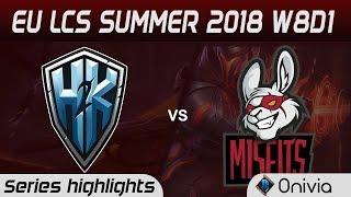 Download H2K vs MSF Highlights EU LCS Summer 2018 W8D1 H2K Gaming vs Misfits Gaming By Onivia Video