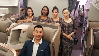 Download Singapore Airlines A350-900 NEW BUSINESS CLASS REVIEW Video