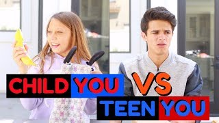 Download CHILD YOU VS TEEN YOU: BACK TO SCHOOL | Brent Rivera Video