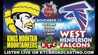 Download Kings Mountain Mountaineers at West Henderson Falcons - 2019 NC Prep Football on KTC Broadcasting Video