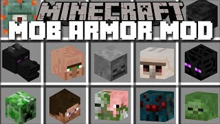 Download Minecraft MOB ARMOR MOD / FIGHT AND SURVIVE THE MOBS AND WIN THEIR ARMOR!! Minecraft Video