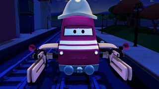 Download Troy The Train is The Power Cut in Train Town - Cars & Trucks construction cartoon (for children) Video