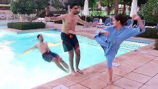 Download CRAZY GIRL KICKED ME INTO POOL !!! Video