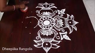 Download vinayaka chavithi special kalasam muggulu with 7x4 dots l kalasam kolam designs l easy rangoli Video