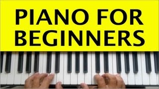 Download Piano Lessons for Beginners Lesson 1 How to Play Tutorial Easy Free Online Learning Chords Video