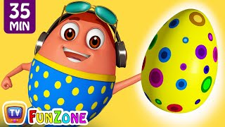 Download Learn YELLOW Colour with Johny Johny Yes Papa | Surprise Eggs Colors Ball Pit Show | ChuChuTV 3D Fun Video