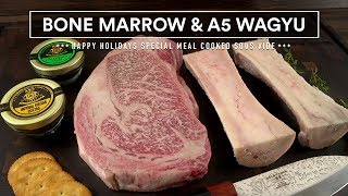 Download BONE MARROW, Wagyu A5 and Caviar Sous Vide Feast! Video