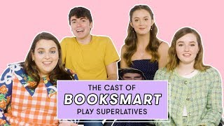Download The Booksmart Cast Reveals Who's Most Likely to Have a Bathroom Hookup and More | Superlatives Video