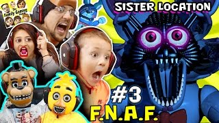 Download WHO NAMES THEIR SON FOXY? FNAF SISTER LOCATION #3 w Chica & Freddy (FGTEEV Fun Times SCARY Gameplay) Video