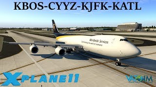 Download X-Plane 11 | Queen of the skies! | KBOS-CYYZ-KJFK-KATL | A320 B737 B747 | VATSIM Video