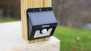 Download NEW! - Mpow Super Bright LED Solar Powered Motion Sensor Light Test & Review Video
