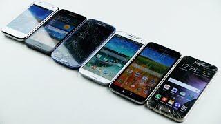 Download Samsung Galaxy S6 vs S5 vs S4 vs S3 vs S2 vs S1 Drop Test! Video