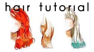 Download Hair Watercolor Coloring Tutorial Video