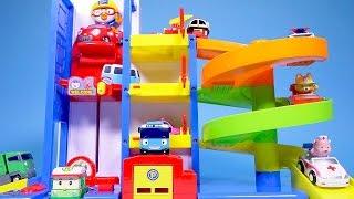 Download Pororo car toys - Poli Tayo mini cars & Parking Tower playset - ToyPudding Video