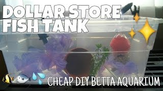 Download DOLLAR STORE FISH TANK - How to Make a Complete Betta Aquarium for Less Than $15 Video
