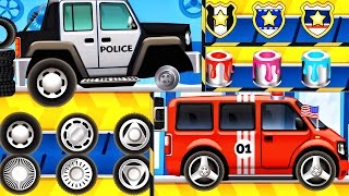 Download Car Factory - Police Car   CAR WASH - Builds Fire Truck for Kids  Videos For Children  iOS Apps Kids Video