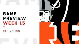 Download Oakland Raiders vs. Cincinnati Bengals   Week 15 Game Preview   Move the Sticks Video