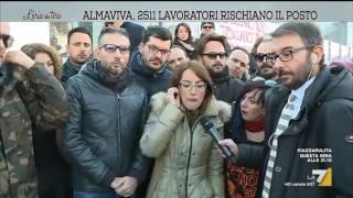 Download L'aria che tira - AlmaViva, 2511 lavoratori rischiano il posto (Puntata 15/12/2016) Video